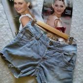 Скидка УП-10%. Стильные джинсовые шорты Effigy, 100%котон.размер 26,27.