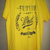 Новая мужская качественная футболка, р. М 40/42, желтая