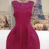 Платье с жаккардовой ткани с кружевом сверху, Oasis, размер L.