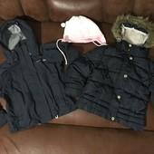Курточка демі на 3-4 роки, в подарунок термо курточка Trespass і шапка