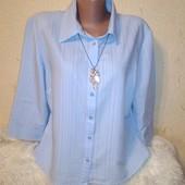 Нежная голубая рубашка 16 размера.