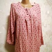 ☘ Цветочная, легкая, нежная блуза-туника от Blue Motion евр.44/46 L