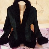 Куртка замшевая чёрная. Размер l,xl. Бред Vestry