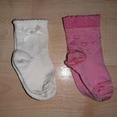 Капроновые носочки на лето маленькой принцессе 0-6 мес