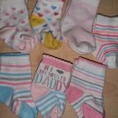 7 пар фирменных носочков на малышку