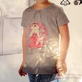 Літня гарна футболочка на дівчинку, розмір 122/128, Германія.