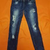 Denim стильные рваные джинсы