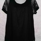 Очень красивая, двойная блуза свободного кроя рр М/L
