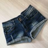 Стрейчевые джинсовые шорты, Katie Klaw, размер L.