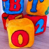 Пять большых мягких кубиков