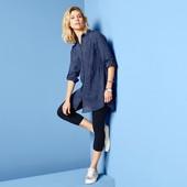 ❀Длинная блуза-туника, чистый хлопок, от тсм Tchibo (чибо), Германия, евро 46 (наш 52). Мини-нюанс