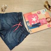 Германия!!! Шикарный лот для девочки! Футболка со звёздами меняющими цвет и шортики! 98/104!