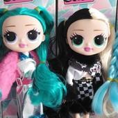 Куколки лол с волосами и аксесуарами в коробке