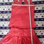 Костюм: майка и юбка-шорты. Размер С-М. Спортивный.
