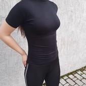 ☘ Классическая футболка-гольф из вискозы, Турция, onesize, черный