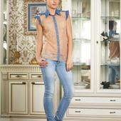 Шикарная новая блуза гипюр джинс бренд новая с этикеткой