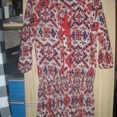 Легкое, летнее, вискозное, платье-вышиванка.