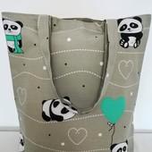 Веселая Панда! Легкая практичная сумка! Оригинальная!