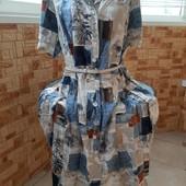 Бомбейское натуральное платье-рубашка 100% вискоза