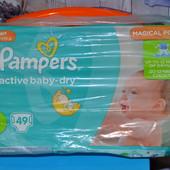 Подгузники для детей Pampers Active Baby-Dry 4 от 8 до 14 кг 49 шт