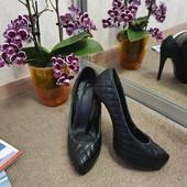 Чёрные туфли, под Шанель. Р.34-35