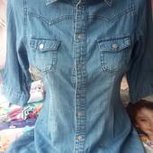 Джинсовое-платье-рубашка 13-16лет