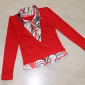Яркий, сочный реглан с блузкой-обманкой, р.44-46