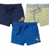 Комплект 3 шт стильные трикотажные шорты на мальчика от Lupilu размер 86/92