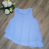 Шикарная сиреневая блуза, р.52-54. Состояние новой