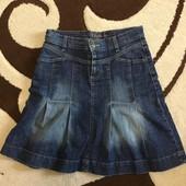 Джинсовая юбка 44/46 размер s. Oliver