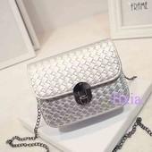 Компактная сумочка цвет серебро!