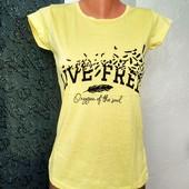 Сонячні футболки Live free. Хс, С, М, Л