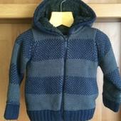 Теплая красивая кофта-куртка, внутри шерпа, размер 3 года 96 смLa Halle,