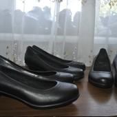 Crocs,кожа,оригинал!Туфельки из Германии р 36.5, р 37, р 38, р 38.5-один на выбор