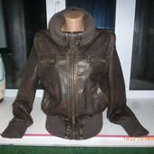 Прикольная женская кожаная куртка!Смотрите замеры!