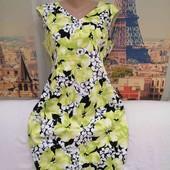 Яркое, красочное платье Precis, размер L - XL.