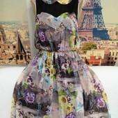 Очень красивое шифоновое платье, Luxe, размер L - XL.