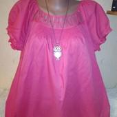 Хлопковая блузочка 18 размера.
