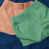 lupilu . комплект из двух катоновые шортиков для девочек 98/104