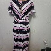 Красивое яркое фактурное стрейчевое платье р.10 Акция читайте