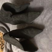 Замшеві чобітки з тисненням, розмір