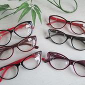 """Стильные имиджевые очки """"Кошечки"""" и """"Лисички"""" с диоптр. плюс и минус!"""