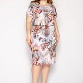Классные платья с натуральной ткани размер универсальный 50-54