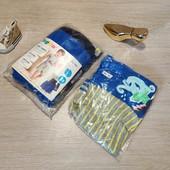 Германия!!! Суперовый лот для малыша из 3 коттоновых шортиков и 2 бодиков-маек! 86/92!