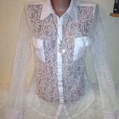 Ажурная рубашка 14/42 размера.