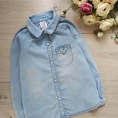 Джинсовая рубашка для девочки 3-4года. Lily&Dan.