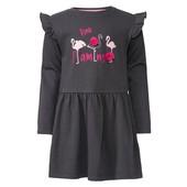 Lupilu обалденное платье для девочки с помпончиками = двунить = Германия!
