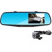 2 камеры !!! Автомобильный видеорегистратор в виде зеркала с дополнительной камерой full hd.