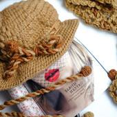 Вязаная шляпка+ шарф