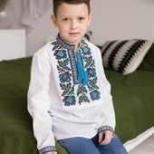 крутезна вишиванка для модника з сімейної колекції Борщівка